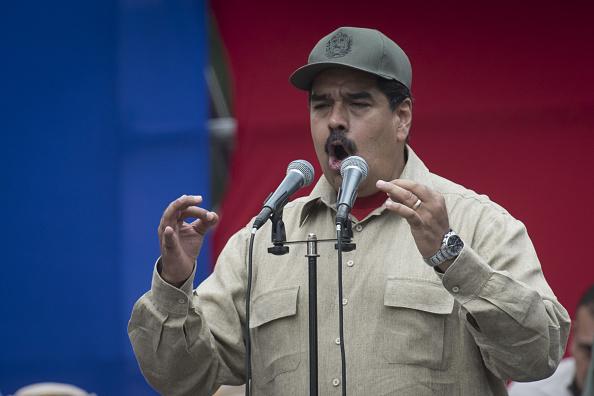 El presidente de Venezuela, Nicolás Maduro, en un mitin. (Getty Images)