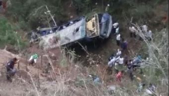 Autobus, precipicio, muertos, chiapas, heridos, hospital