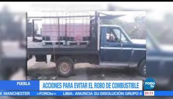Acciones, evitar, robo de combustible, Puebla, gasolina, huachicoleros