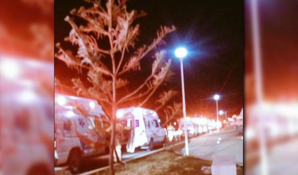 Ambulancias atienden emergencia en Puebla