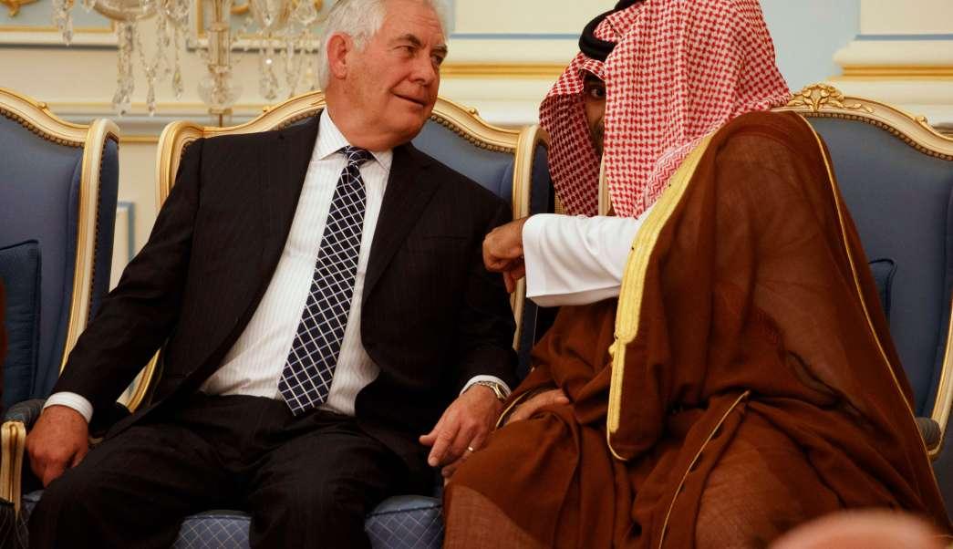estados unidos, Rex tillerson, ministro de Defensa, Palacio Real, Riad