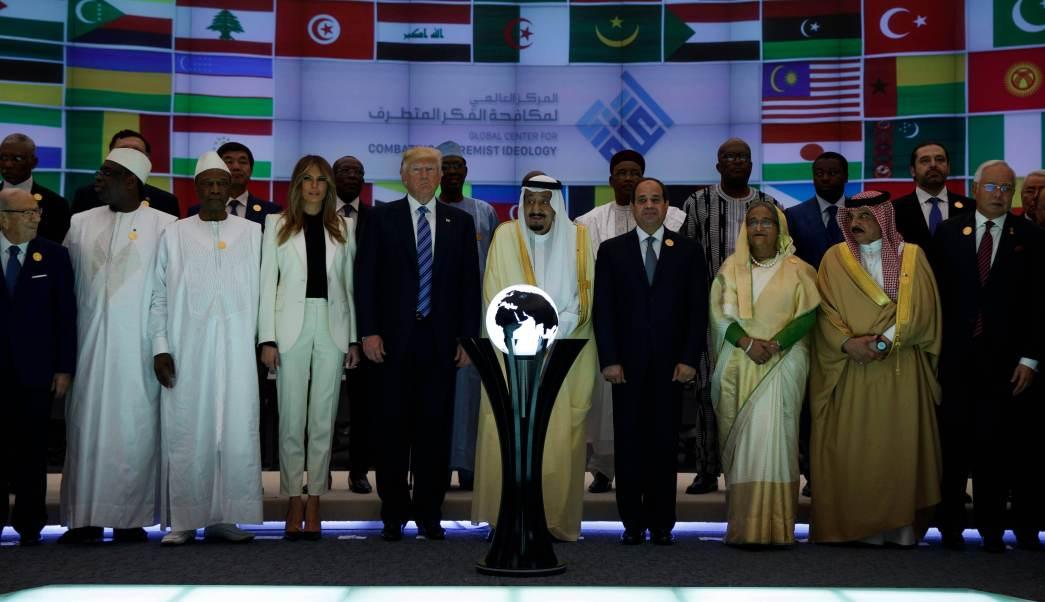 presidente de estados unidos, Donald Trump, rey saudí, Salman, inauguran, nuevo centro, lucha contra el extremismo, terrorismo