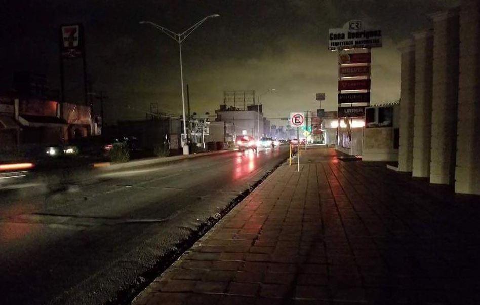 Apagón afecta tres ciudades de Tamaulipas