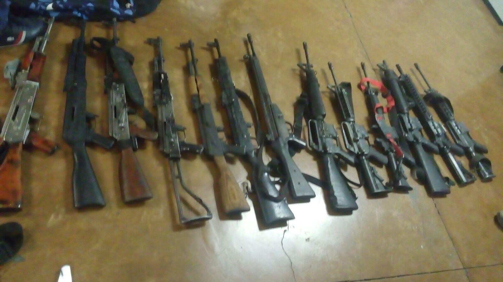 Captura PGJE a 22 personas con armas largas