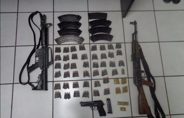 Armas decomisadas en Navolato, Sinaloa. (SSP-Sinaloa)