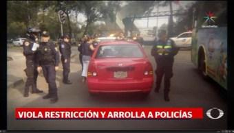 Atropellamiento, Reforma, Tránsito, multa, Hoy no Circula, policías