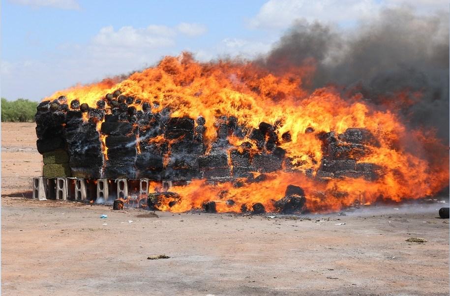 Incineran más de 5 toneladas de narcóticos en Hermosillo
