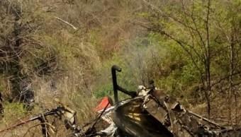 Avioneta accidentada en el municipio de Amacuzac, Morelos