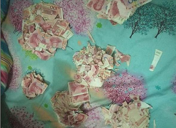 Los billetes rotos eran un préstamo del banco (Foto: dailymail)
