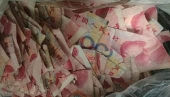 Un niño de cinco años se había quedado en casa sin supervisión y rompió billetes (Foto: dailymail)