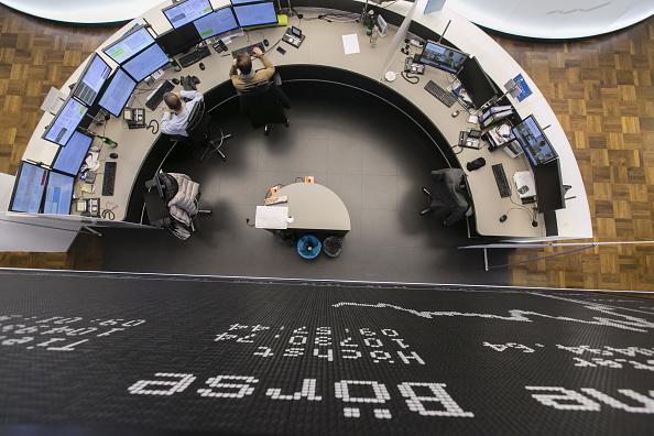 Vista del piso de operaciones de la Bolsa de Frankfurt