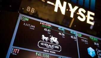 Resultados corporativos, Tablero electrónico, Bolsa de Nueva York