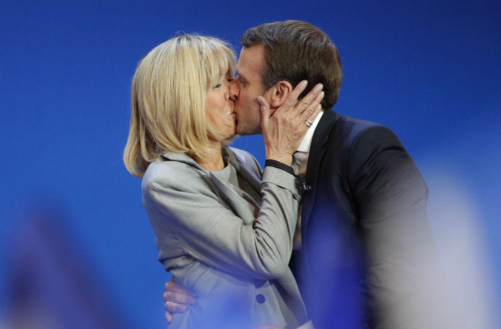 Brigitte, la esposa y exmaestra de Emmanuel Macron