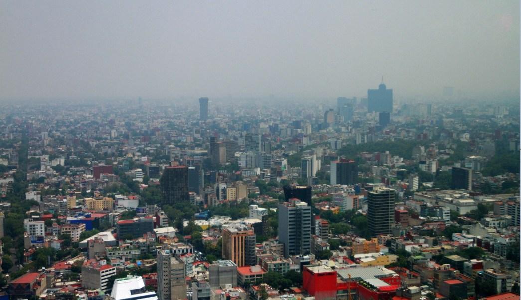La ciudad de mexico luce contaminada