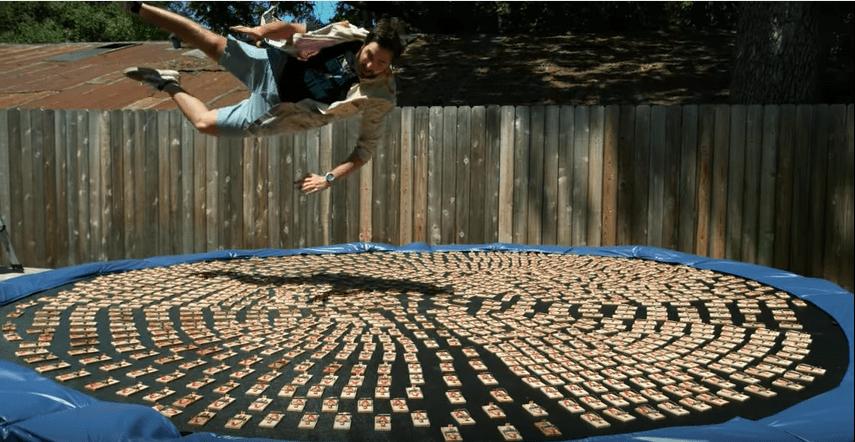 Video, saltas, trampas para ratones, cámara lenta