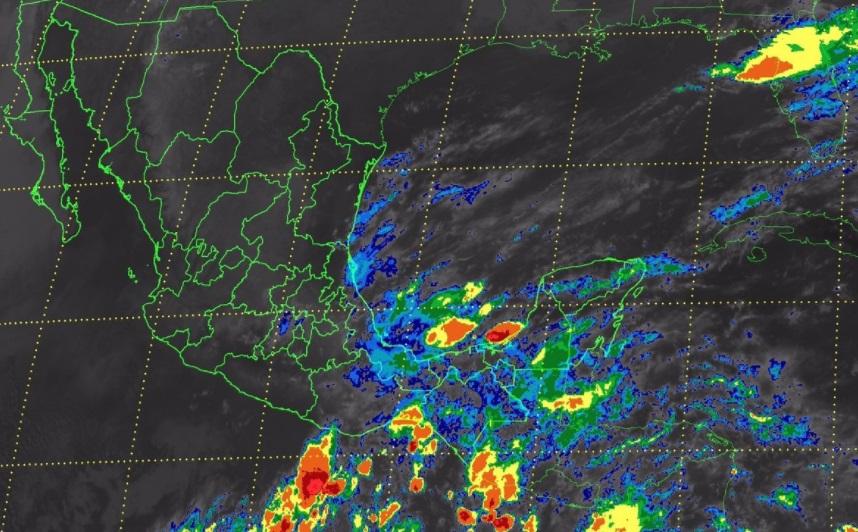 Se prevén tormentas intensas en Oaxaca y Chiapas, y tormentas muy fuertes en Hidalgo (Twitter @conagua_clima)