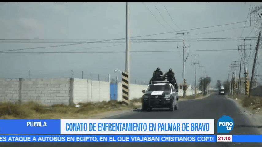 Conato, enfrentamiento, Palmar de Bravo, Puebla, Marina, Cuacnopalan