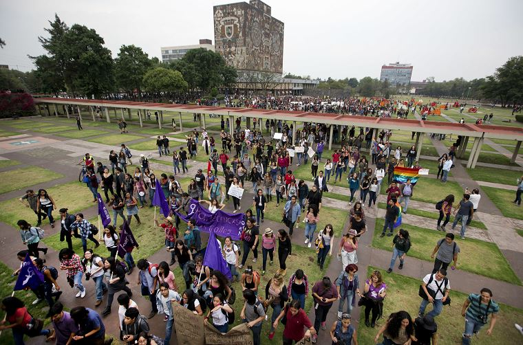 asesinato, feminicidio, CU, UNAM, protesta, procuraduría capitalina