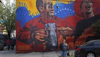 Nueva York, Hugo Chávez, mural, grafiti, Venezuela, protestas, Maduro, Bronx