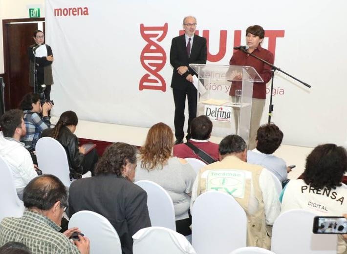 Delfina Gómez, morena, educación, elecciones, estado de mexico, internet