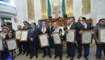 La Asamblea Legislativa de la CDMX reconoció a deportistas destacados con la presea al mérito. (Twitter: @AsambleaDF)