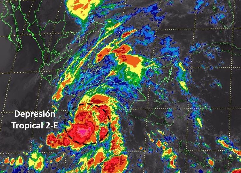 depresion tropical 2 e se forma en el pacifico