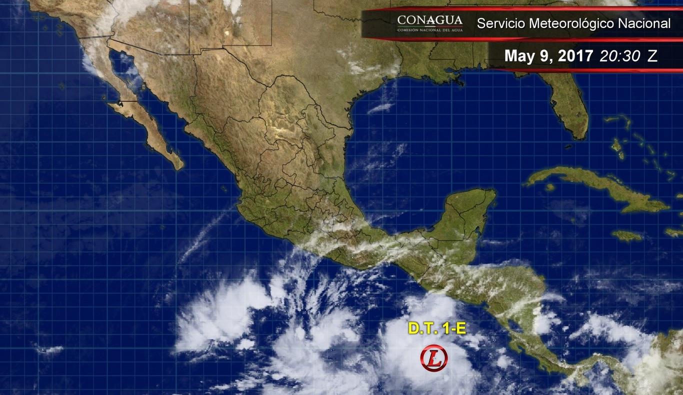 Se forma primera Depresión Tropical en el Pacífico