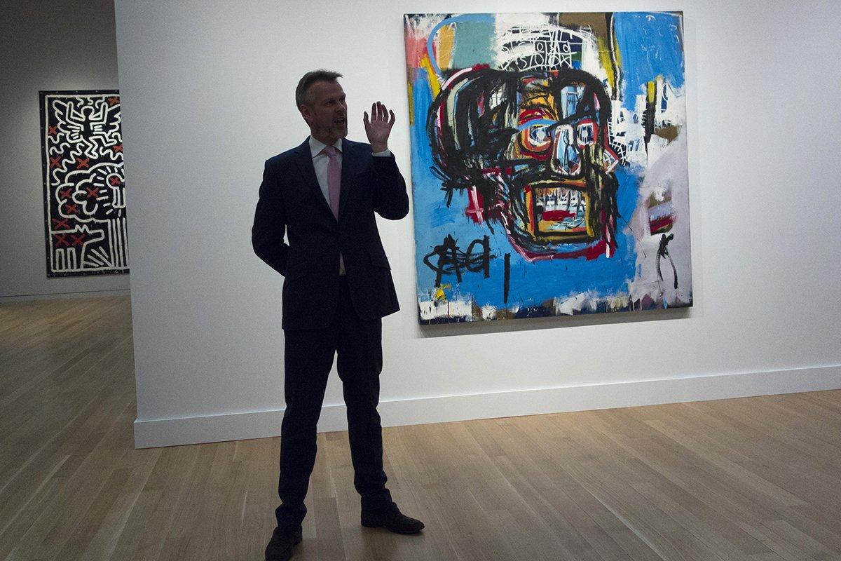 Pintura de Basquiat alcanza los 110,5 millones de dólares