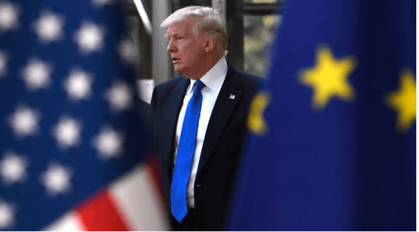 Donald Trump durante su visita a la sede de la OTAN en Bruselas, Bélgica. (Getty Images)