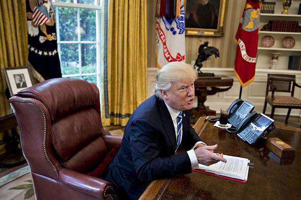 Donald Trump, presidente de Estados Unidos, en la Oficina Oval. (Getty Images)