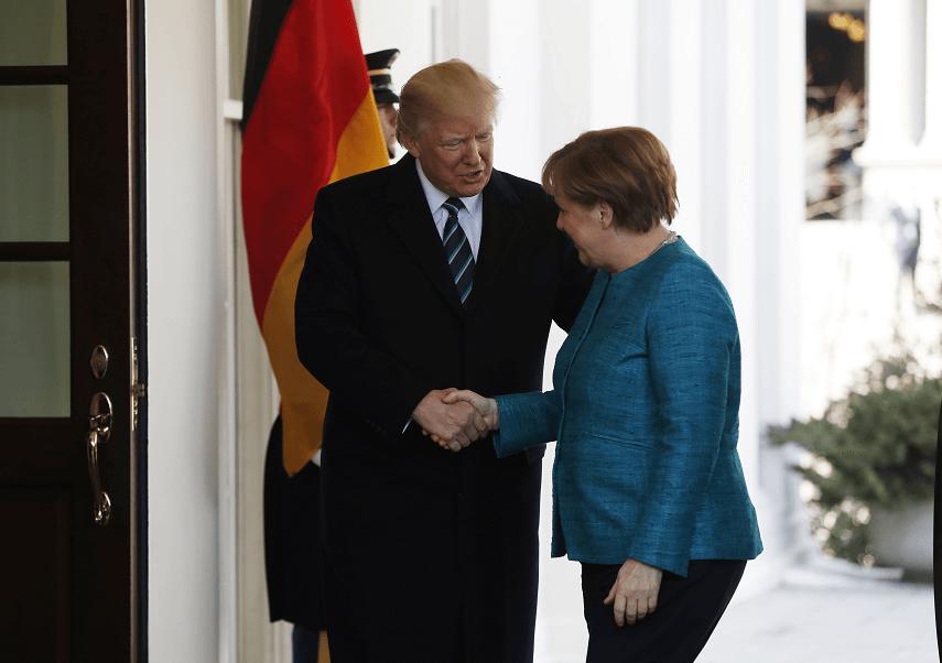 Donald Trump y Angela Merkel durante la visita de la canciller alemana a la Casa Blanca