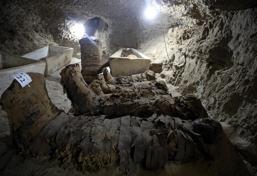 Expertos hallan momias en el cementerio de Minya, Egipto (Reuters)