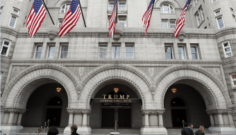 El Hotel Internacional Trump en Washington, Estados Unidos