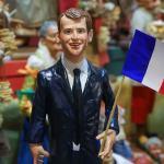 Artesanía de Emmanuel Macron, presidente electo de Francia