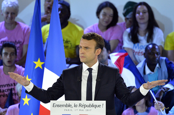 Emmanuel Macron, candidato presidencial del movimiento En Marcha!. (Getty Images)