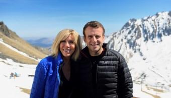 emmanuel macron y su esposa brigitte trogneux