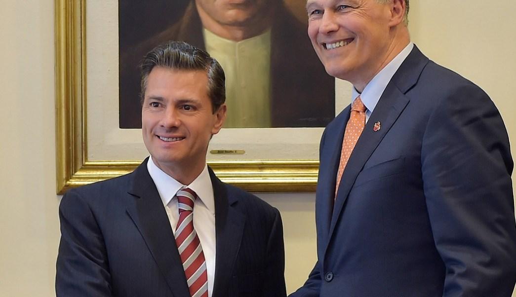 El presidente Peña Nieto se reunió con el gobernador de Washington, Jay Inslee. (Presidencia de la República)