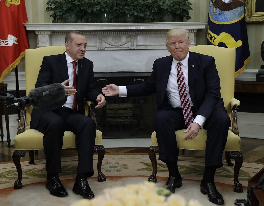 Erdogan y Trump en la Casa Blanca (AP)