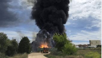 Explosion fabrica reciclaje Espana
