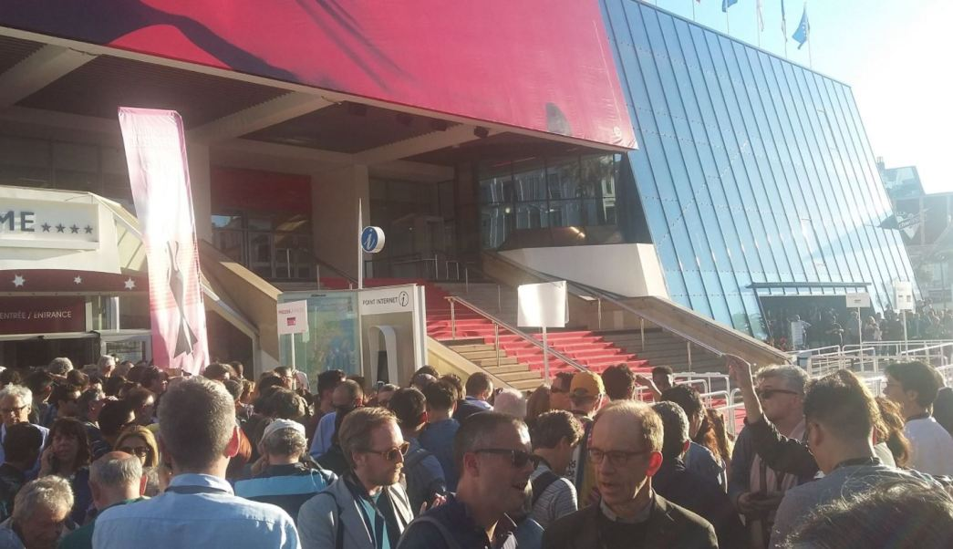 Falsa alarma, objeto sospechosos, festival de cannes, francia
