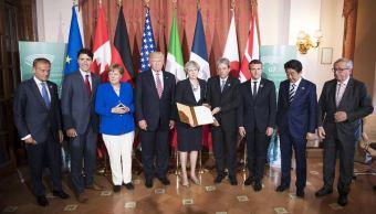 G7, Donald Trump, Angela Merkel, Theresa May, cumbre, líderes políticos