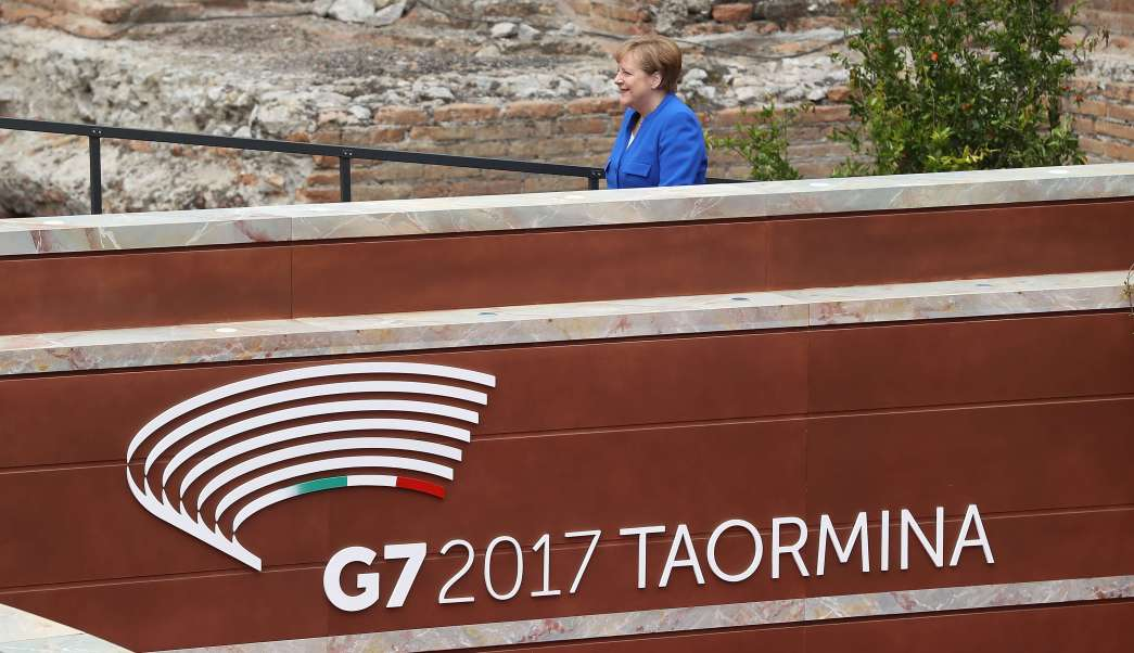 canciller alemana, Angela Merkel, Cumbre del G7, cambio climático