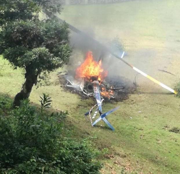 Cae helicóptero en Sierra de Chiconquiaco, cerca de Xalapa, Veracruz ...