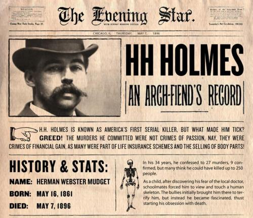 Holmes, periodico, dr holmes, asesino, serial