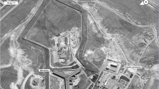Imagen de satélite de una cárcel en Siria