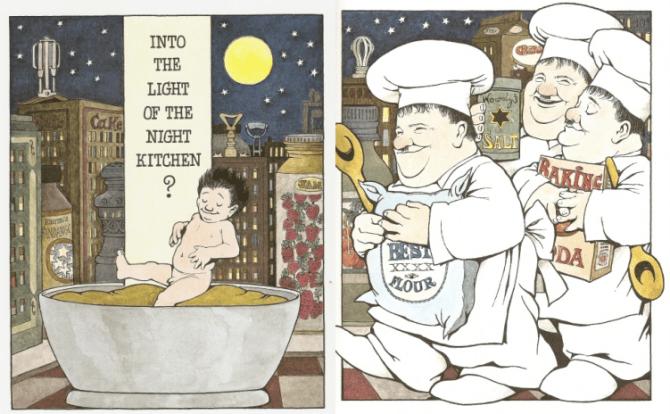 In the Night Kitchen, Maurice Sendak, literatura, ilustración, dibujos