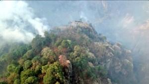 Incendio afecta a varios municipios de Morelos