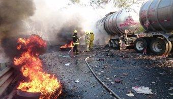 accidente, Guadalajara, incendio, pipa, Colima, accidente vial