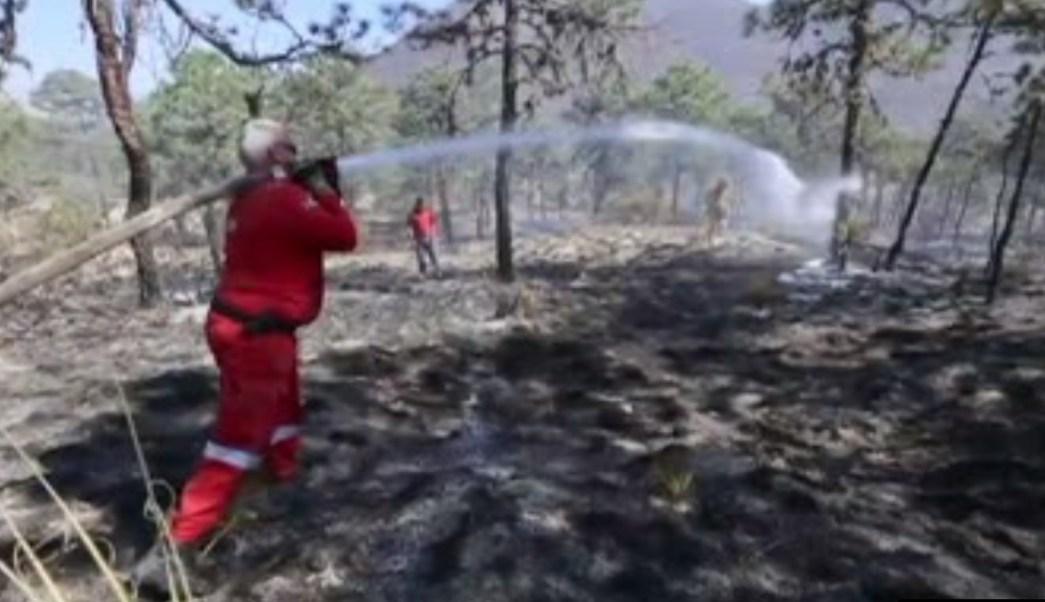 Bomberos atienden incendio en el municipio Galeana