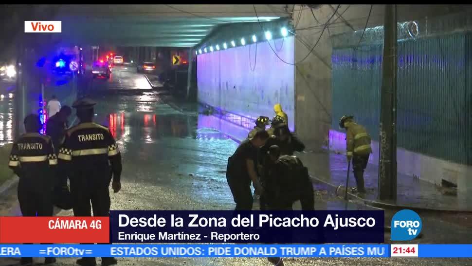 Intensas lluvias, causan, afectaciones, Ciudad de México, encharcamientos, inundaciones